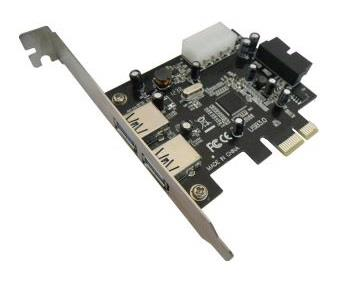 PCIe USB3.0 4 Port Card (2 Ext+Dual Port Int)