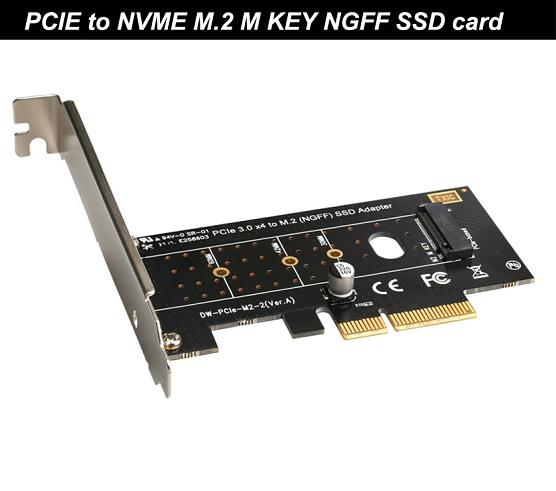 PCIe3 0 X4 to NVME M 2 M Key NGFF SSD Controller Riser Card