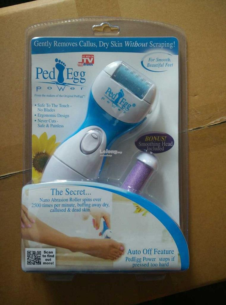 New Ped Egg Power Beauty Foot Care Callus Remover