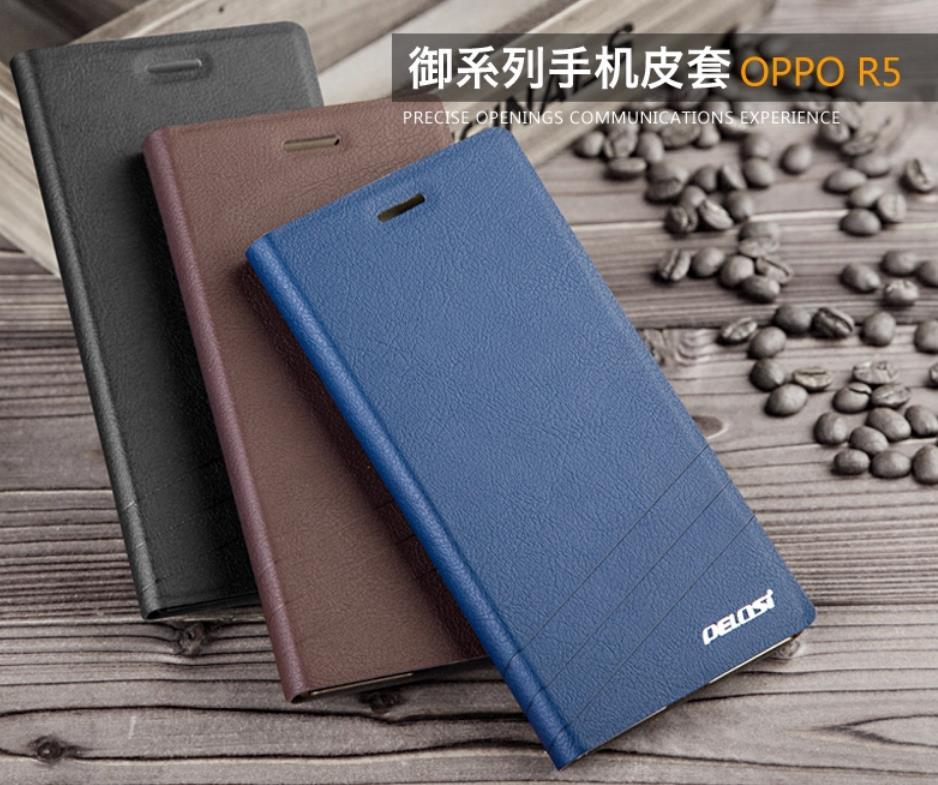 Pelosi OPPO R5 PU Leather Flip Case Cover +Free Screen Protector