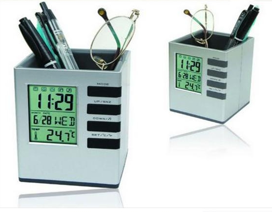 Pen holder upscale business calendar, electronic pen holder clock high