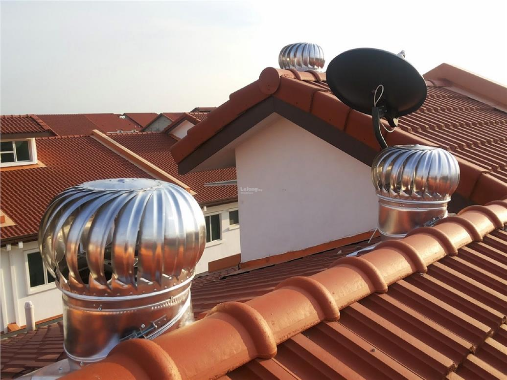 PENANG Installation of 2 Units 14 Inch FA FREE FLOATING Ventilator