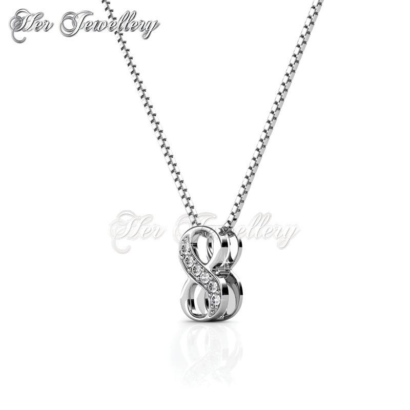 Pendant number 8 embellished with c end 262019 149 pm pendant number 8 embellished with crystals from swarovski aloadofball Choice Image