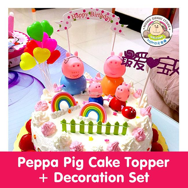Peppa Pig Cake Topper Figures