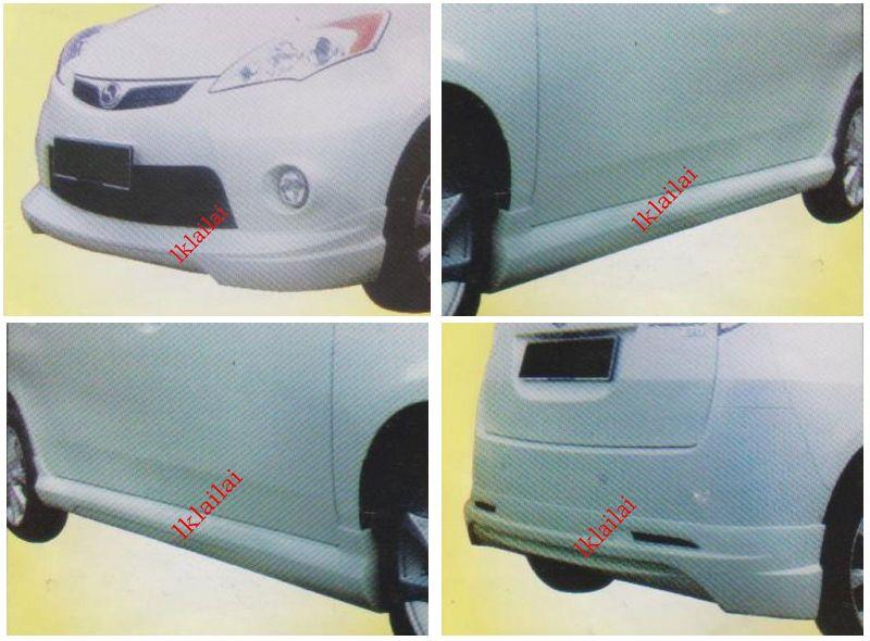 Perodua Alza Kenstyle Full Set Skirting Body Kit Front+Side+Rear Skirt