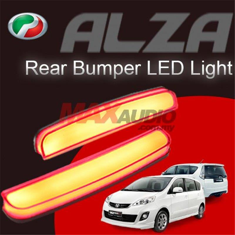 PERODUA ALZA Red Lens Rear Bumper Safety Reflector LED Light Bar (Pair