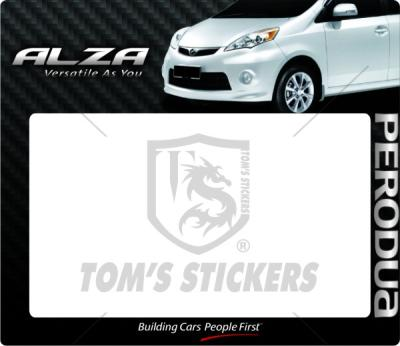 Perodua alza roadtax sticker e10