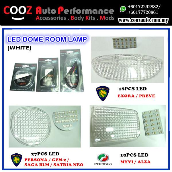 Perodua Alza Room Lamp 18 Pcs Led White With Crystal Casing