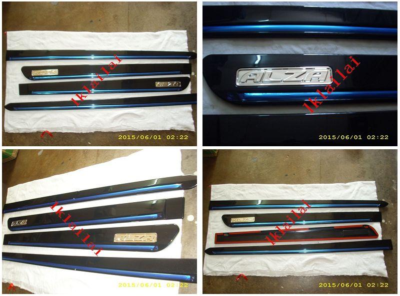 Perodua Alza Side Moulding With Chrome Lining Painted
