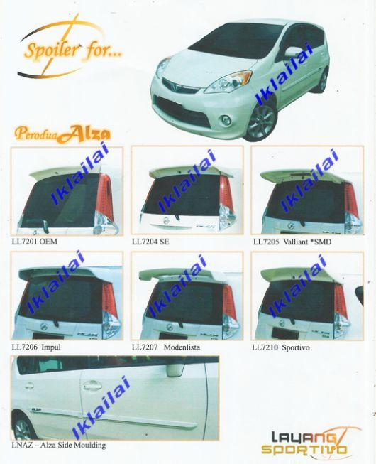 Perodua Alza Spoiler & Side Moulding [Please see Price Below]