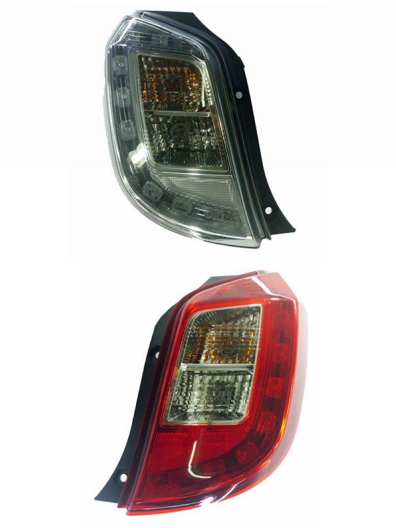 Perodua Axia '14-15 LED Tail Lamp Clear / Red Lens [LH / RH] 1-side