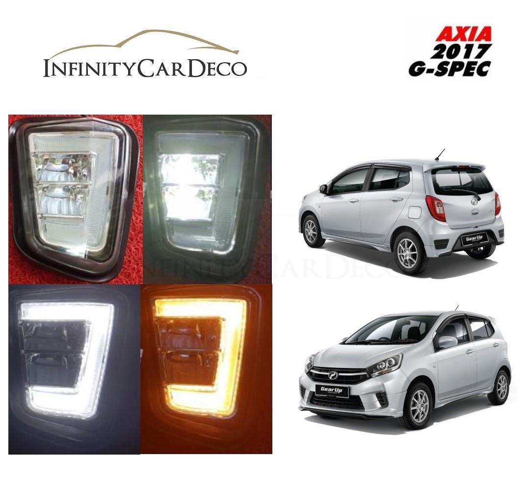 Perodua Axia 2017 Daylight Daytime DRL + Signal + Fog Lamp Cover