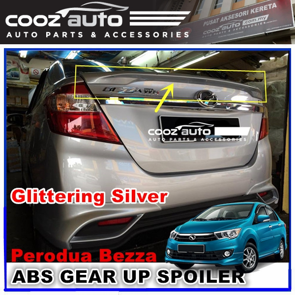 Perodua Bezza Gear Up Rear Spoiler (GLITTERING SILVER)