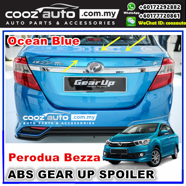 Perodua Bezza Gear Up Rear Spoiler (OCEAN BLUE)