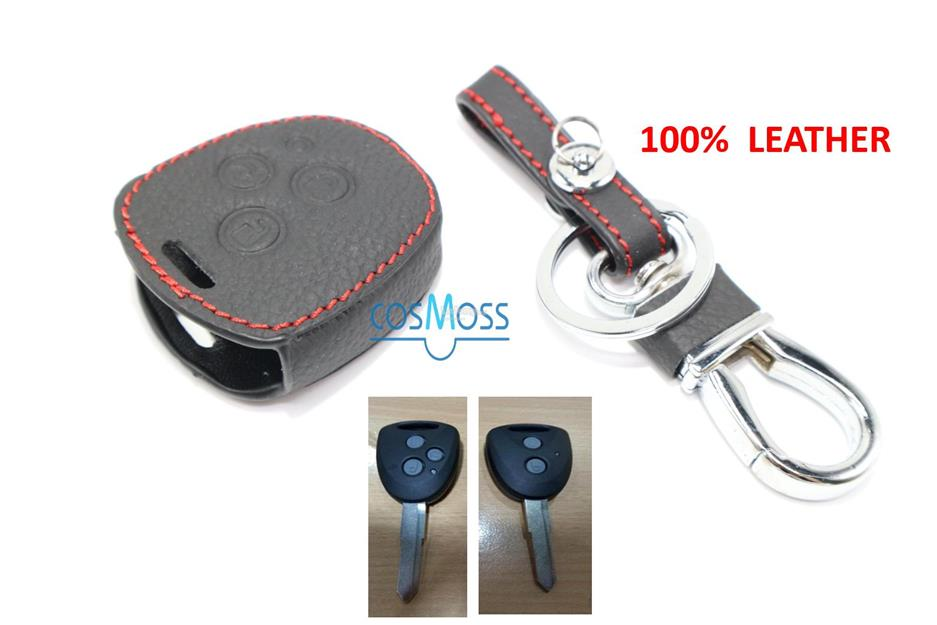PERODUA BEZZA Key Start Remote Leather Car Key Cover Case