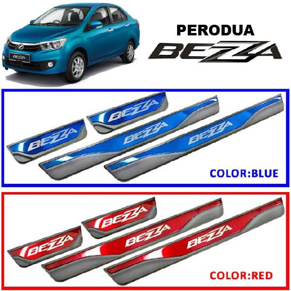 PERODUA BEZZA Plug&Play Color Stainles Steel Door Side Sill Step Plate