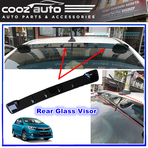 Perodua Bezza Rear Glass Spoiler Rear Top Windscreen Visor