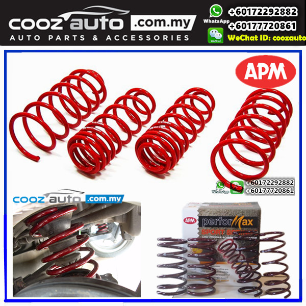 Perodua Kembara APM Performax Lowered Sport Coil Spring Suspension