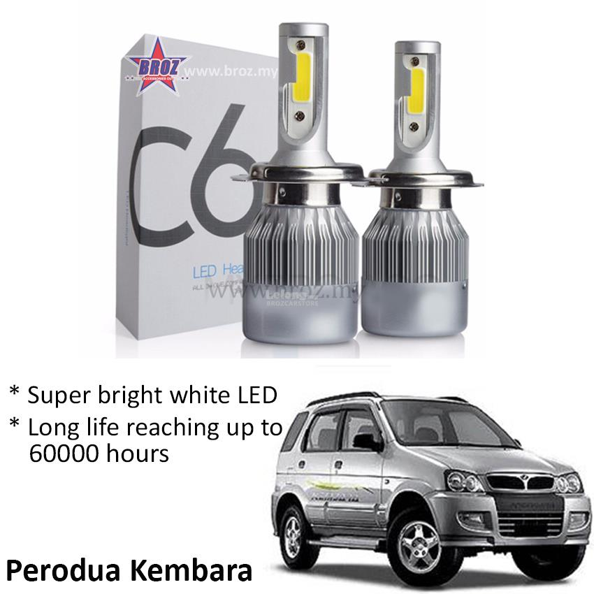 Perodua Kembara Head Lamp C6 LED Light Car Auto Head light lamp 6500K