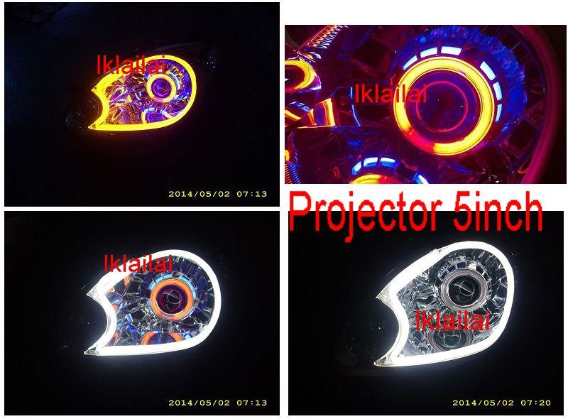 PERODUA MYVI '05 HEAD LAMP 5inch Projector CCFL 2-Function Day Light