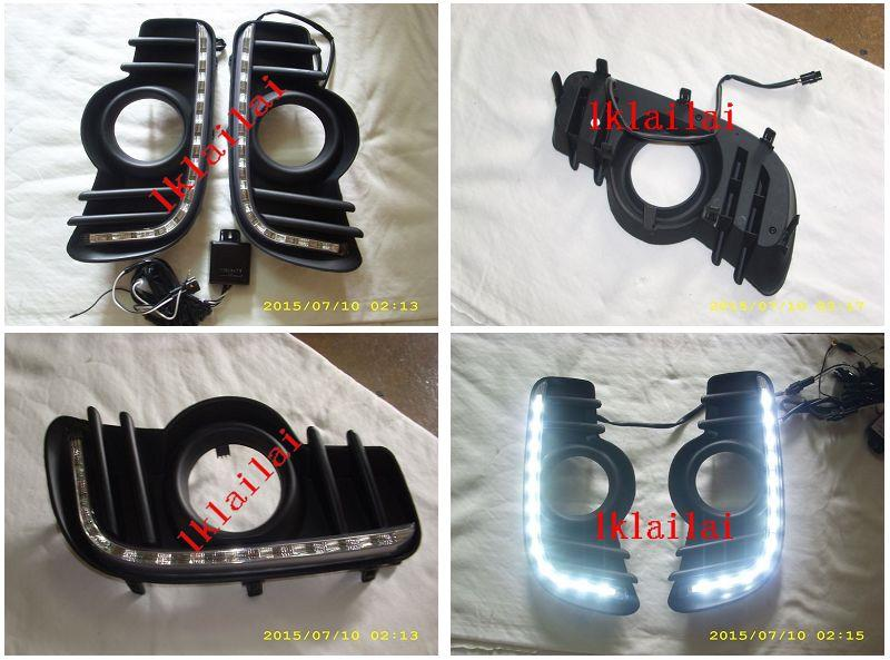 Perodua Myvi '11 Fog Lamp Cover with LED Daylight 1-pair