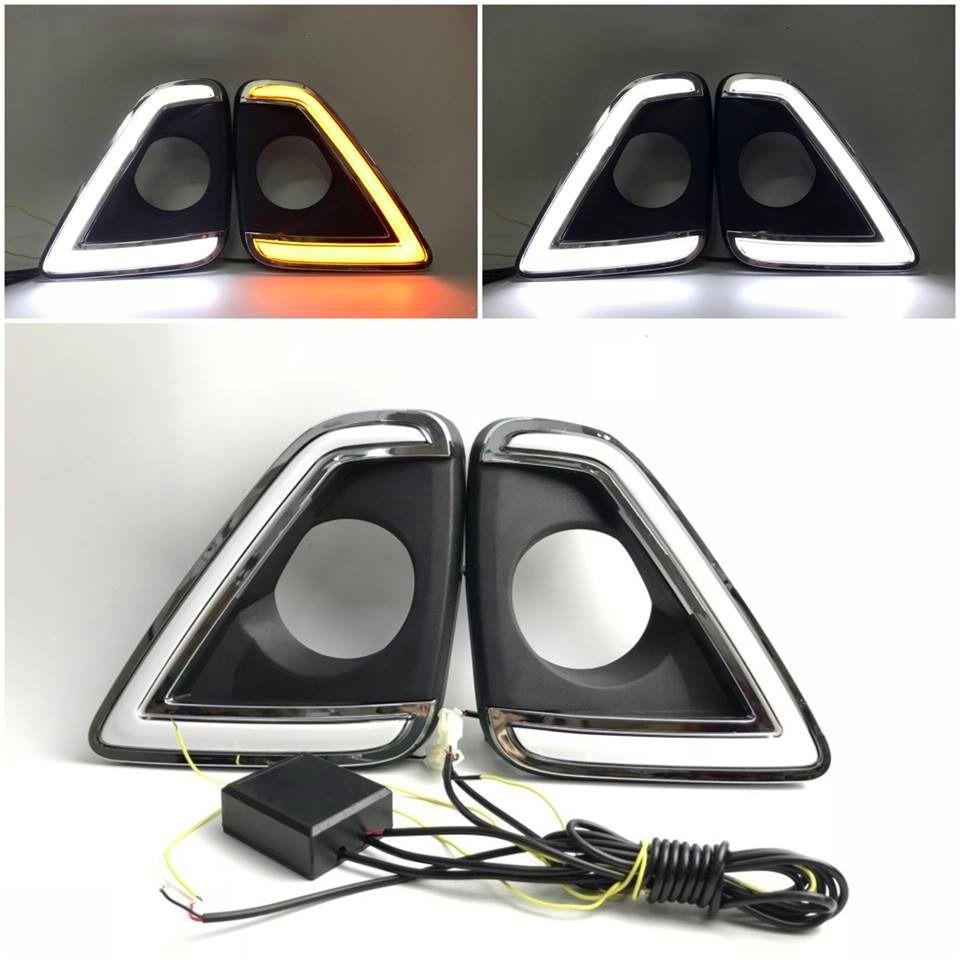 Perodua Myvi '18 Daylight Daytime DRL w Signal Function Fog Lamp Cover