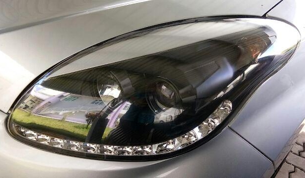 Perodua Myvi 2005 Head Lamp Projector with LED Stripe - 1 Pair