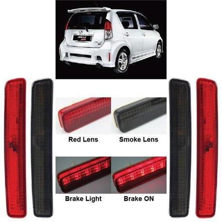 PERODUA MYVI 2007-2008 Red&Smoke Rear Bumper LED Brake Light (Pair)