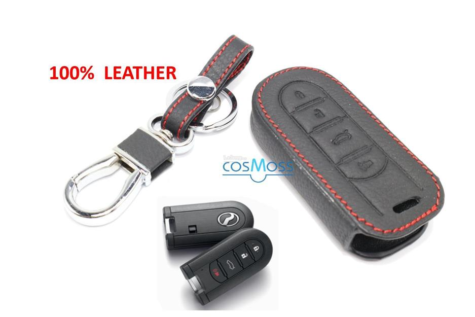 PERODUA MYVI 2017-2018 Keyless Remote Leather Car Key Cover Case