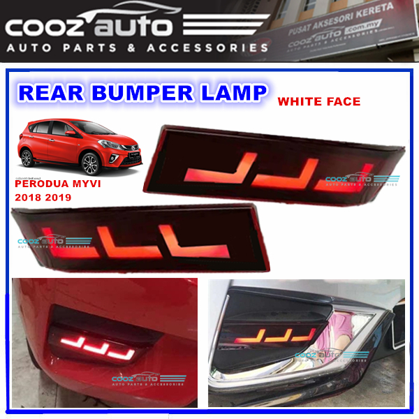 Perodua Myvi 2018 2019 LED Rear Bumper Brake Lamp Warning Light (White
