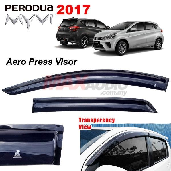 PERODUA MYVI 2018 AERO Premium Rain Guard Acrylic Door Window Visor