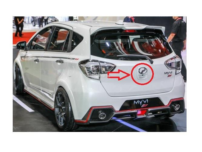 Perodua Myvi 2018 - Reverse Camera With Garnish White