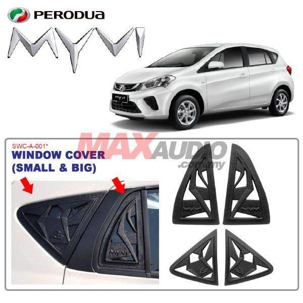 PERODUA MYVI 2018 Side Triangle Window Glass Protector Cover (4pcs)
