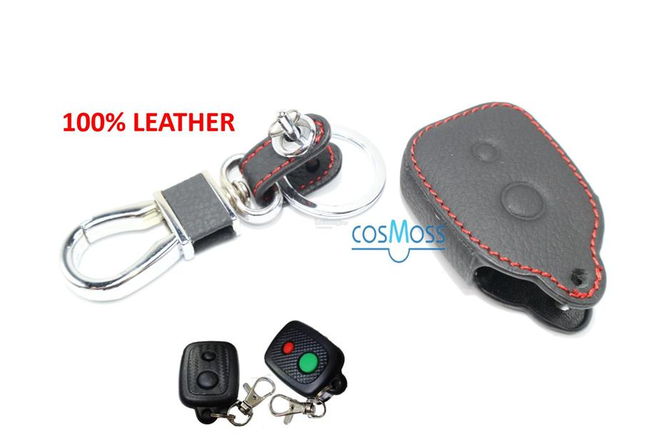 PERODUA MYVI/ALZA Remote Cover Case Leather (Black-RedLine) Perodua-3