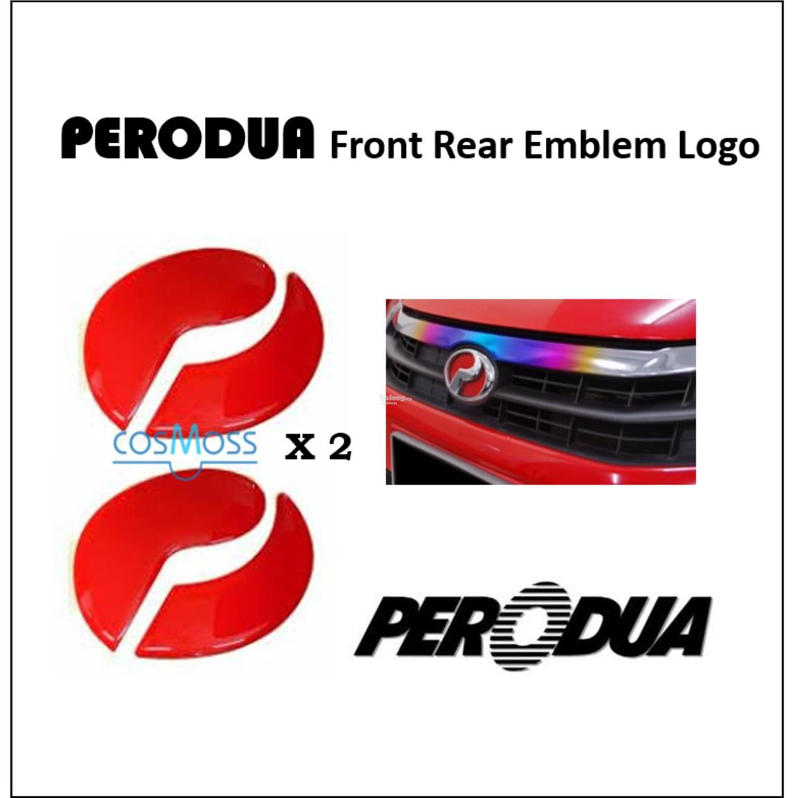 PERODUA MYVI OLD - EMBLEM LOGO 2PCS [Front & Rear Sticker]