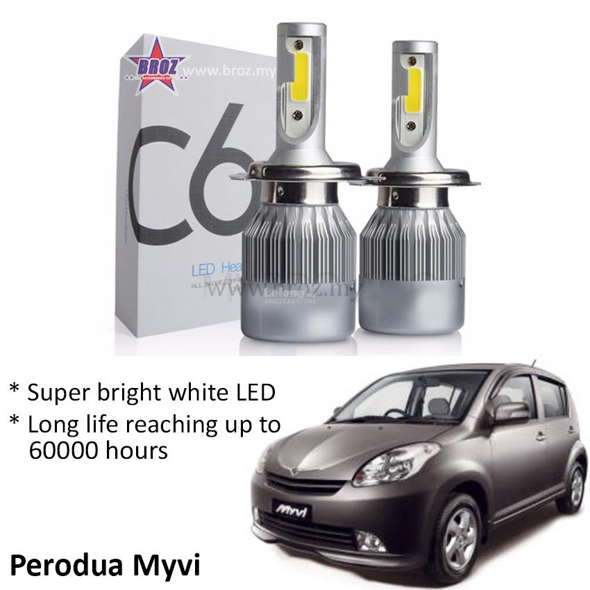 Perodua Myvi Old (Head Lamp) C6 LED (end 8/20/2018 2:15 PM