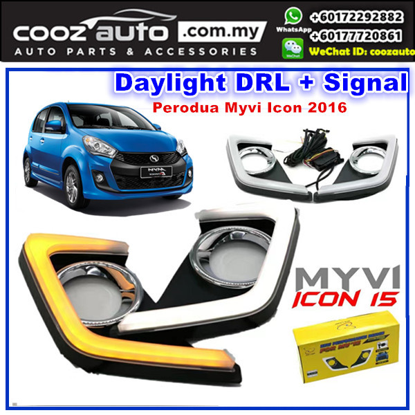 Perodua Myvi Icon 2016-2017 Daylight Daytime DRL + Signal + Fog Lamp Cover