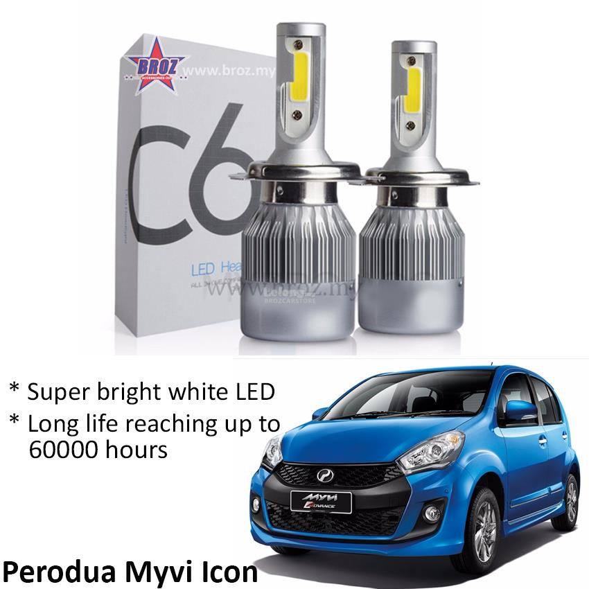 Perodua Myvi Icon (Head Lamp) C6 LED (end 8/20/2018 2:15 PM