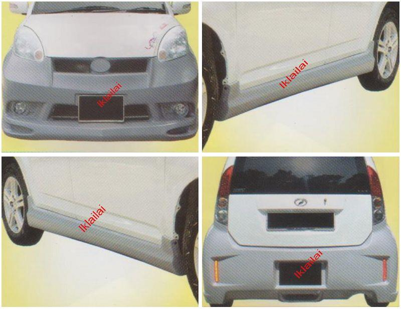 Perodua MYVI IMPU [Front + Rear Bumper + Side Skirt] Body Kit