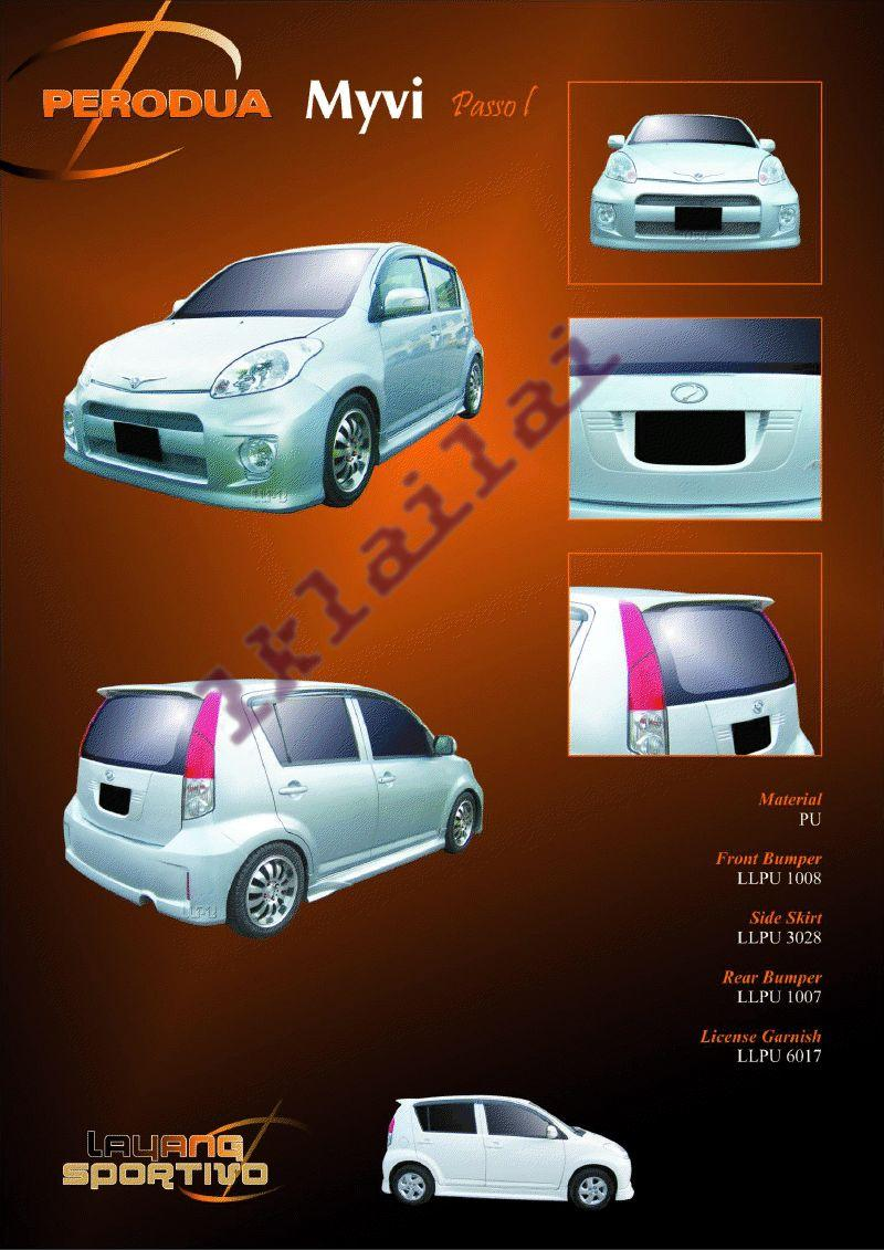 Perodua Myvi Passo I Body Kit [Option Boon Style Tail Lamp+Rm100]