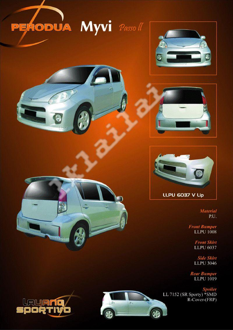 Perodua Myvi Passo II Body Kit [Option Boon Style Tail Lamp+Rm100]