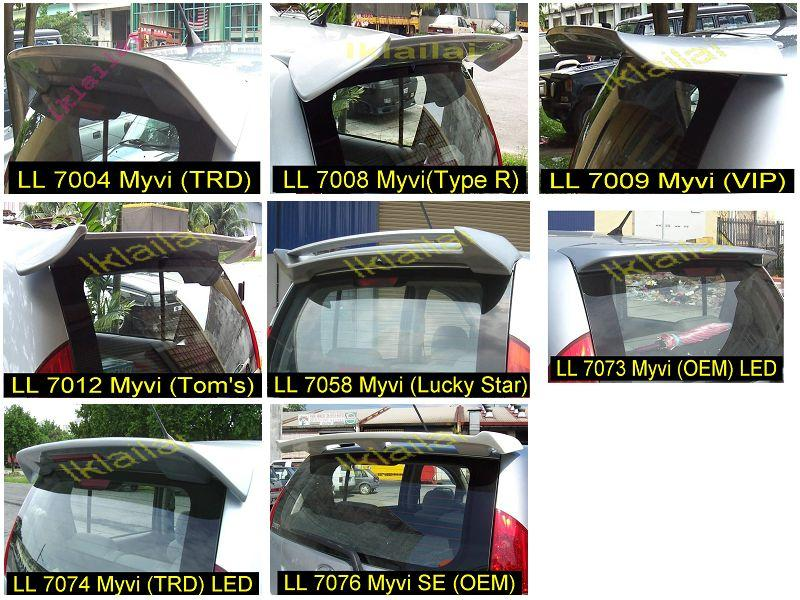 Perodua Myvi SE1 Spoiler - 8 Style for Choose