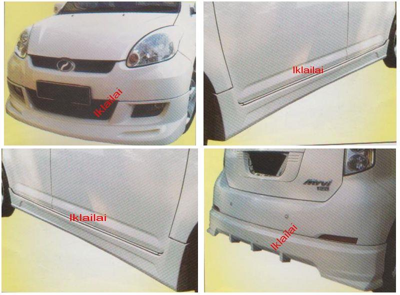 Perodua Myvi SPORTIVO Full Set Skirting Body Kit Front+Side+Rear Skirt
