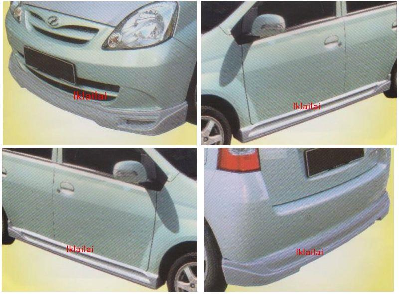Perodua Viva FULL BLOOM Full Set Body Kit [Front + Side + Rear Skirt]