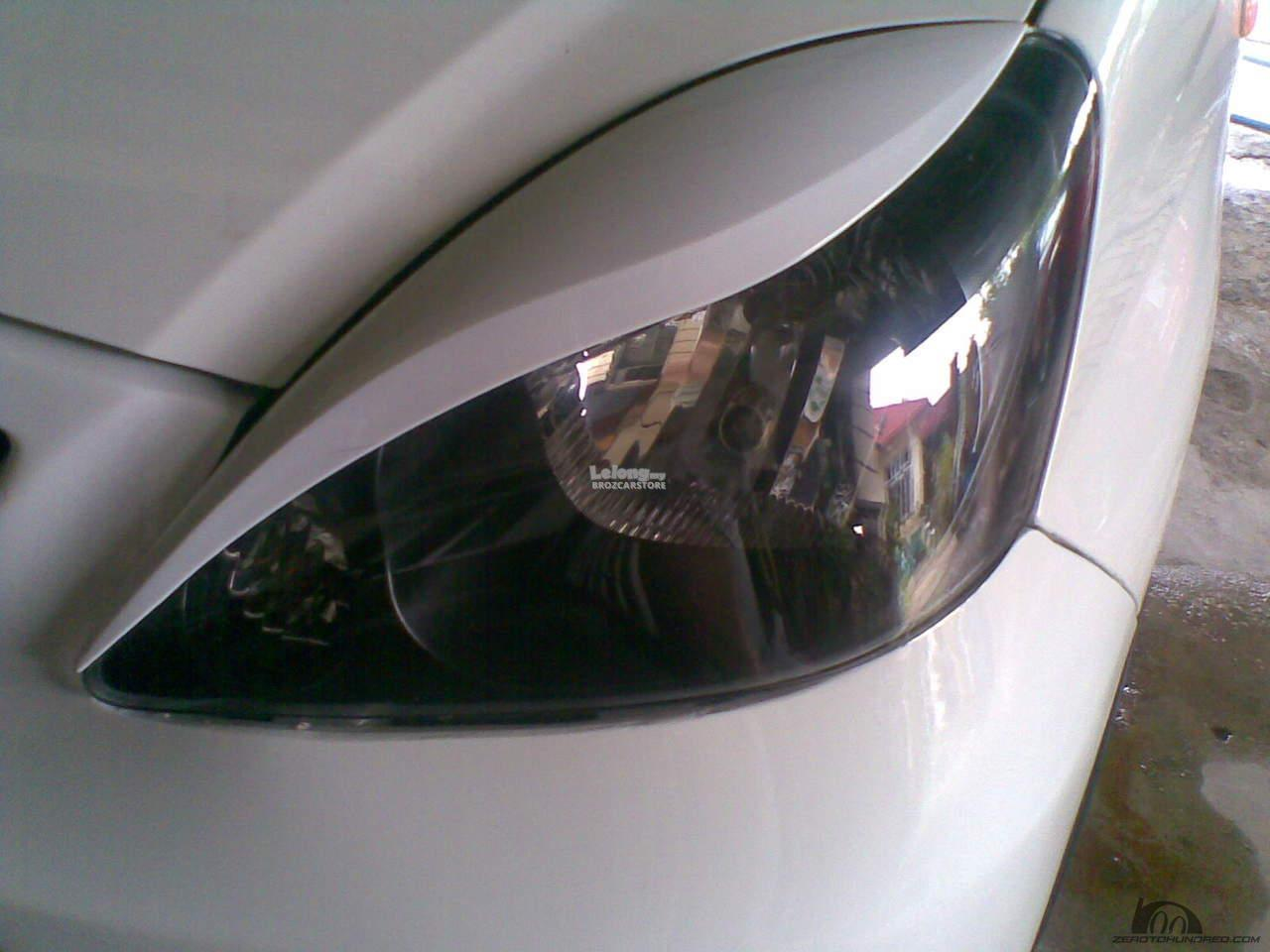 Perodua Viva Head Lamp Lid Cover Eye Lid With PAINTED - Ebony Black
