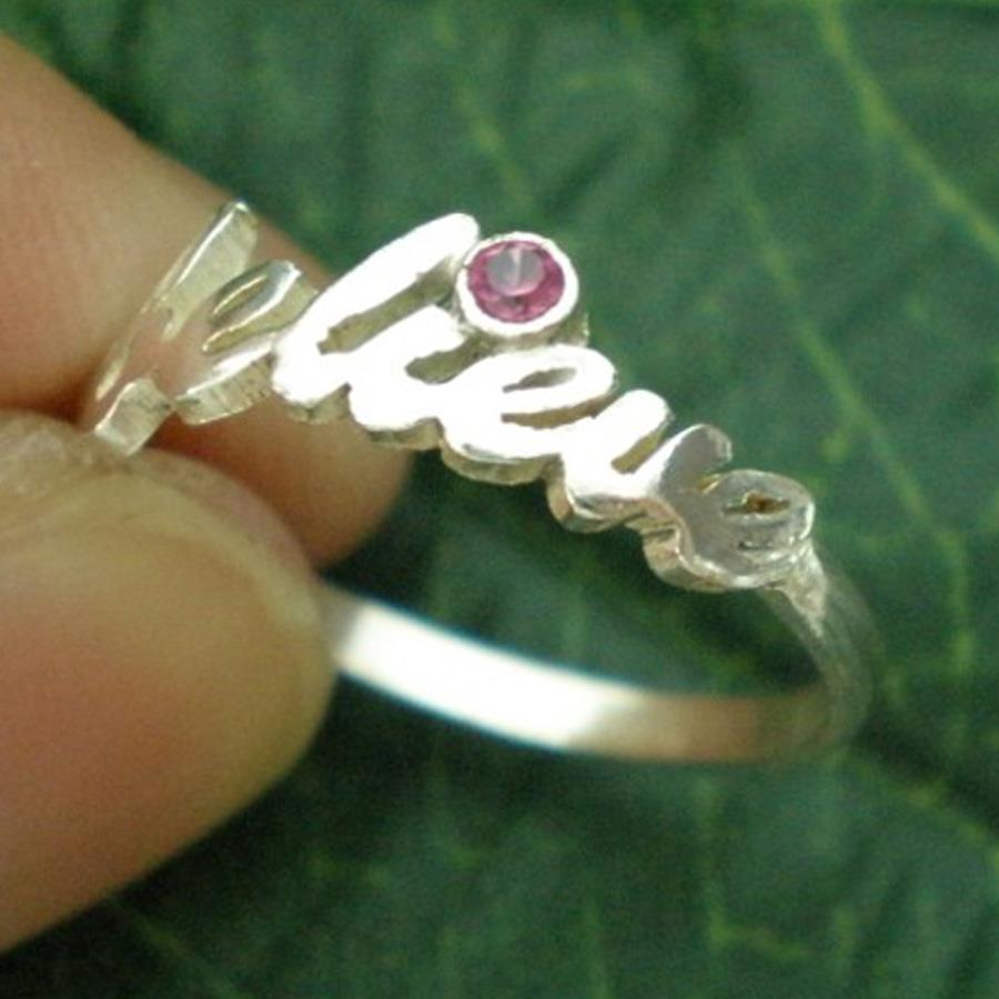 'Personalized Artisan Initial Name Rings- P9070237