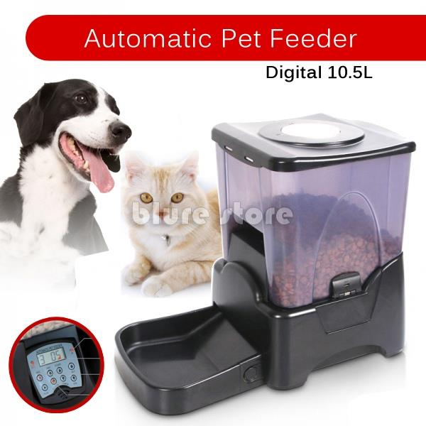 Pet Automatic Food Dispenser LCD Digital Timer Pet Feeder Programmable