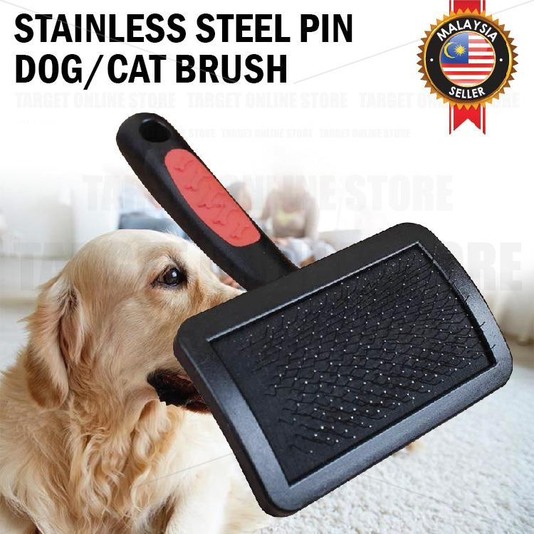 Pet Hair Shedding Grooming Cat Dog Stainless Steel Pin Slicker Comb