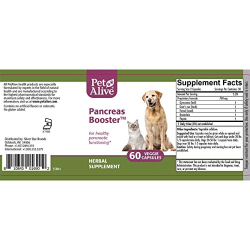 PetAlive Pancreas Booster - All Natural Herbal Supplement for Pancreatic Healt