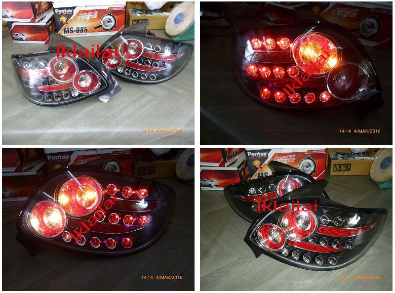 PEUGEOT 206 / 207 LED Tail Lamp [Smoke-Red/All Red/Black-Red]